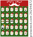 Santa claus emoji icons 26294872