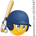 Baseball batter emoticon 26295487
