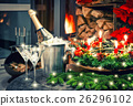 Festive decoration champagne 26296102