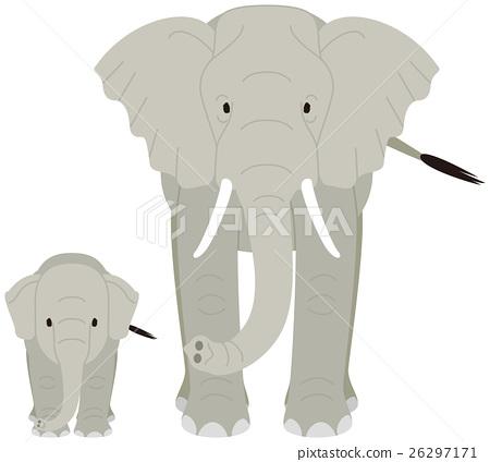 大象 動物 哺乳動物 26297171