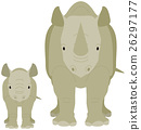 Parent and child of rhinoceros 26297177