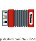 Accordion icon, flat style 26297659