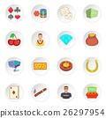 Casino icons set, cartoon style 26297954