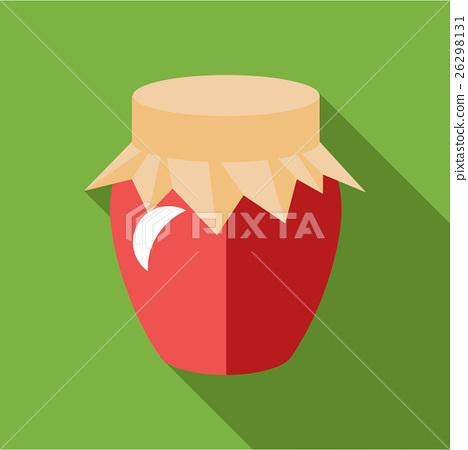 Jar of jam icon, flat style 26298131