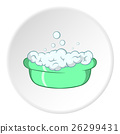 Bath for baby icon, cartoon style 26299431