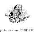 Vintage Santa Claus Christmas illustration 26303732
