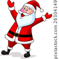 Santa cartoon waving 26304149