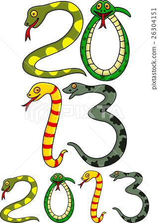 2013 New snake Year - Stock Illustration [26304151] - PIXTA
