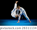 Boys martial arts fighters isolated 26311134
