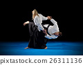 Martial arts fighters isolated 26311136