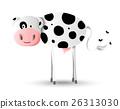 Cartoon illustration design of happy farm cow 26313030