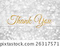 thank you word on white silver glitter bokeh 26317571