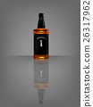 realistic whisky bottle with reflect shadow 26317962