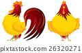Mr rooster illustration set 01 26320271