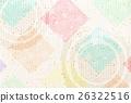 日本纸佐仓新年的卡片背景 26322516