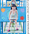 Happy kid, asian baby child playing on a bicycle 26325373
