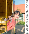 Happy kid, asian baby child playing on playground 26325468