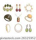 Jewelry icon set 26325952