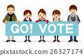 要求投票的高中學生 - 招貼冬天衣裳 26327174