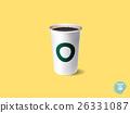 realistic paper cup of espresso coffee 26331087