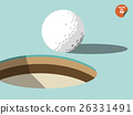 golf ball on edge of hole design, golf design 26331491