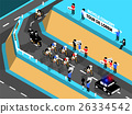 isometric design of cycling race on the mountain 26334542