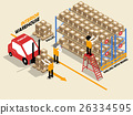 beautiful isometric design of interior warehouse 26334595