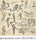 Sport - collection of an hand drawn illustrations 26335831