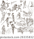 Sport - collection of an hand drawn illustrations 26335832