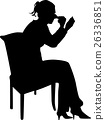 women make up silhouette vector 26336851
