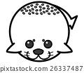海狗 插圖 插畫 26337487