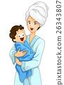Kid Baby Boy Bath Towel Mom 26343807