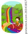 Kid Boy Rainbow Falls Boat 26343857