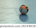 Handball ball on field 26349638