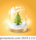 Merry Christmas, Christmas tree in glass dome 26351132