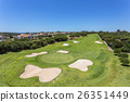 The well-kept golf course in the summer. 26351449