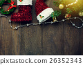 Top view Christmas decoration,jewelry clothesline 26352343