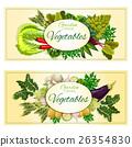 Healthy vegetable banner set with fresh veggies 26354830