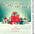 Holiday Christmas background  26356334