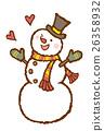 雪人 眨眼 冬 26358932