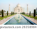 The Taj Mahal is an ivory-white marble mausoleum  26358984