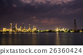 oil refinery at twilight 26360424