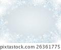 雪水晶背景 26361775