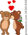 Bear kissing 26361939