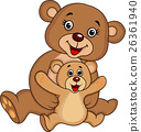 Mother and baby bear cartoon 26361940