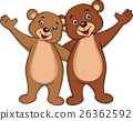 Bear couple waving 26362592