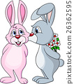 Rabbit couple kissing 26362595