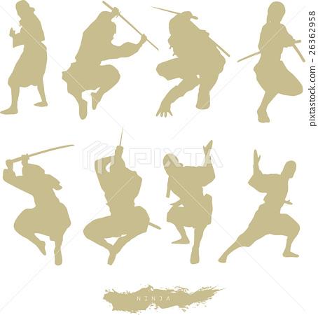 Ninja silhouette 26362958