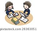 數字_學習研究_兩個人_制服 26363051