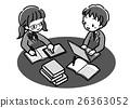 數字_學習研究_兩個人_單色_制服 26363052